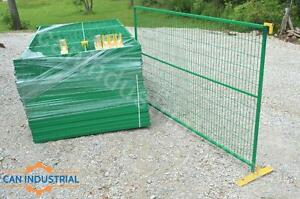 6x10 TEMPORARY FENCE PANELS - GALVANIZED & RUBBER COATED, RUST RESISTANT STEEL, LOTS OF COLOURS, construction security