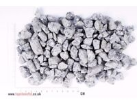 20 Kg SILVER GREY GRANITE CHIPPINGS - Free Delivery