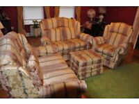 Used, Settee made by wade never used comprises two, two seaters single chair and poufee. for sale  Crumlin, County Antrim