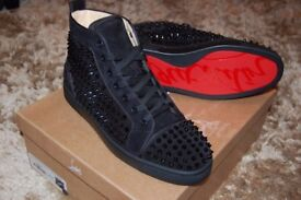 Christian Louboutin Velours Spikes Size 9