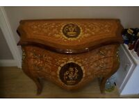 Antique Vintage Inlaid Furniture Sideboard chest of drawers bed side table,