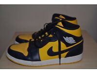 Nike high tops Blue and yellow size 9 Mens