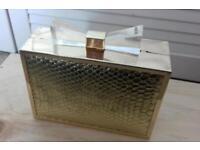 Golden box purse