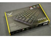 Corsair K65 RGB Tenkeyless Keyboard Mechanical Cherry Red MX Switches - Cleaned to Perfect - BOXED