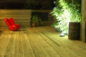 brand new contemporary treated flat sawn decking and base to cover 3m x 2.4m