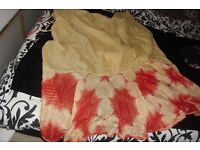 BEAUTIFUL WRAP AROUND SARONG IN GOLD/RED COLOURS GREAT OVER SWMWEAR