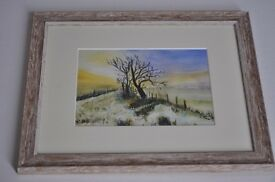 Winter, sunset landscape - Giclee print NEW