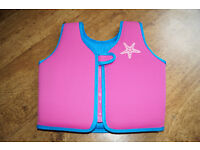 Zoggs Pink Swim Jacket 4-5 yrs Like New