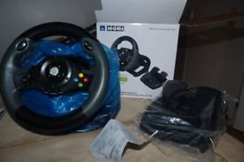 HORI Racing Steering Wheel EX2 - officially licensed for Xbox 360
