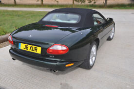 Jaguar XK8 Convertible with private plate in superb condition with very low mileage. Metallic Green.
