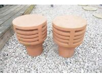 TWO UNUSED CHIMNEYS/GARDEN POTS
