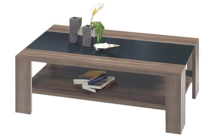 Ilert Couchtisch Nussbaum Schwarzglas Glastisch Tisch Wneu In