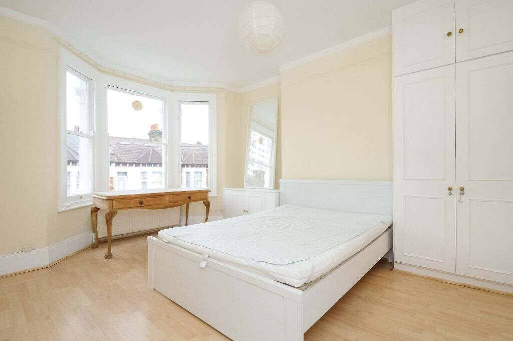 A split level four bedroom apartment with a private roof terrace located on Mirabel Road, SW6