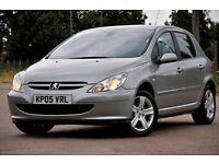 2005 Peugeot 307 1.6 16v SE Tiptronic 5dr+AUTOMATIC+FREE WARRANTY+JUST SERVICED+12 MONTHS MOT