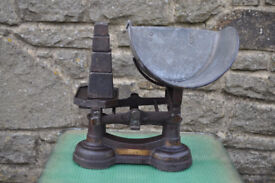 vintage cast iron scales