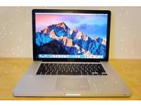 15.4' Apple MacBook Pro Quad Core i7 2Ghz 8gb 500GB HD Logic Pro X Ableton Final Cut Pro X Adobe CC