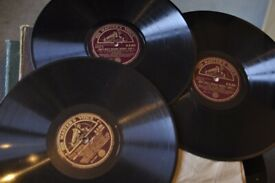 "78 RPM Set of three 10"" records (HMV) Nursery Rhymes"