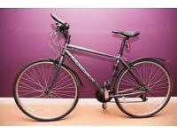 Ridgeback motion hybrid bike - barely used, with lock, pump and lights