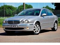 2005 Jaguar X-Type 2.0 D SE 4dr+DIESEL+FREE WARRANTY+FULL LEATHER+SERVICE HISTORY+PARKING SENSORS