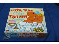 "Tea set. Toy ""Little Miss"" retro tea set."