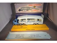 Vintage Diecast Meccano Dinky Supertoys Early Model Bedford Pullmore Car Transporter 982 & Ramp 794