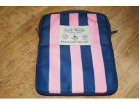 Jack Wills Original Navy and Pink Tablet Cover