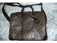 Louis vuitton porte-documents voyage leather briefcase/laptop bag