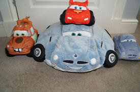 Disney Cars 2 Large Folding Pillow and Soft Plush Toy Cars