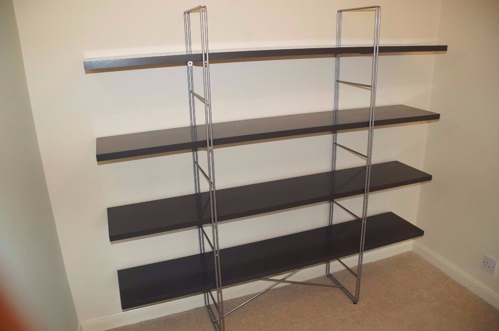 ikea metal bookshelf ikea enetri shelving unit bookshelf grey gloss and metal 415