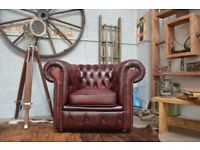 Chesterfield Leather Vintage Club Armchair Ox Blood