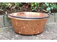 Large vintage Copper Jam making pot