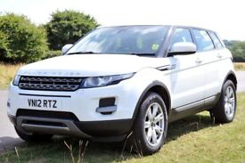 Land Rover Range Rover Evoque Pure T SD4 / White /Black Leather/Satnav/Manual/