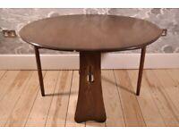 Vintage Retro 60' Ercol Windsor Gate Leg Oval / Circular Table (model 1156)