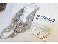 Snugglebundl Baby Blanket/Wrap/Carrier in Brown Stars (not used)