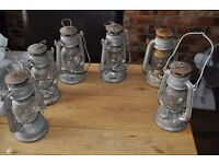 six garden or house lamps