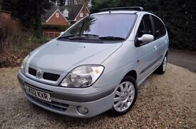 "2002 ""02"" RENAULT SCENIC 1.6 16v DYNAMIQUE + DRIVES VERY WELL 179000~SH~LEATHER~6xCD~ TWIN SUNROOFS"