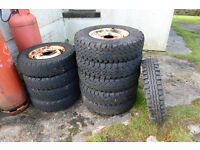 Landrover Series II/III Wheels Tyres Rims Free to collect