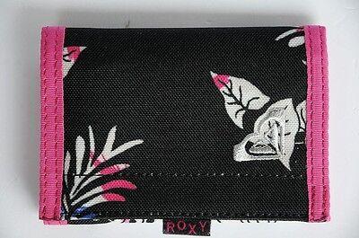 Roxy Geldbörsen Wallets (Roxy Geldbörse Wallet  Klettverschluß schwarz rosa Neu)
