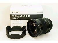 Sigma 17-70mm f2.8-4 DC Macro OS HSM Lens for Nikon AF