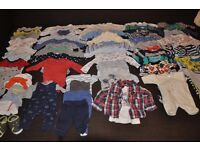 Big bundle of baby boy clothes 0-6 months/ newborn (65 items) GAP, NEXT, Carters, Childrens Place