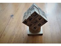 *** Wooden Sudokube Cube Puzzle***