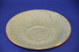 Vintage Gossamer Green Marbled Saucer For Royal Albert Bone China Harlequin Tea Set. VGUC