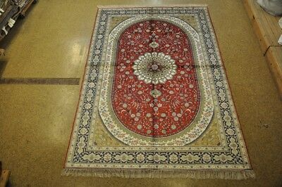Red Carpets For Sale (Silk Rug For Sale Handmade 6x9 Red Tabriz Oriental Rugs For Sale)