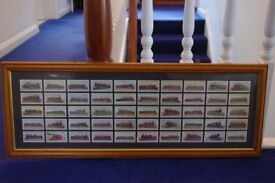 FRAMED REPRODUCTION LAMBERT & BUTLER FWORLD LOCOMOTIVES CARDS (50) -VERY GOOD -COLLECT ONLY BENFLEET