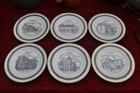 canterbury collection set of 6 limited edition plates of stanley