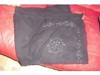 BLACK SARONG WITH DETAIL + SILVER STUDS IN ONE CORNER GREAT FOR THE HOLIDAYS
