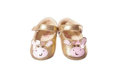 Baby Girls Infant Shoes Gold Ballet Flats for Cow Halloween Costume Size 1 2 NEW](Halloween Ballet Shoes)