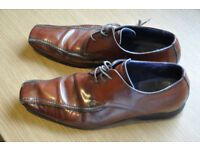 Men's brown leather shoes, Autograph brand from Marks & Spencers