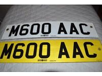 M600 AAC number plate for sale.