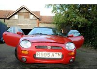 1997 MGF in Red. 70,000 miles. Little work for MOT.